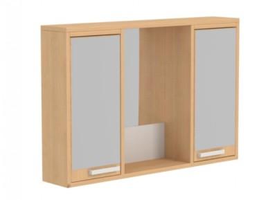 Zrcadlová skříňka 2 dvířka a 5 poliček - šířka 92 cm, hloubka 17 cm, výška 60 cm