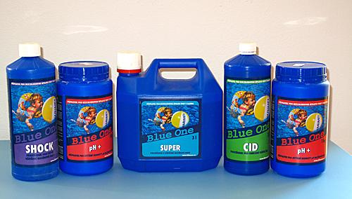 Bezchlorová chemie z řady BlueOne, která zamezí nepříjemným alergickým projevům při koupání.