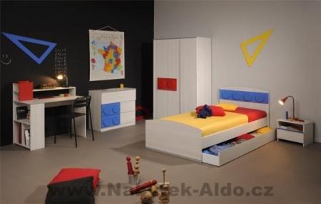Dětský pokoj Lego Brick pro kluka, foto: Nábytek Aldo