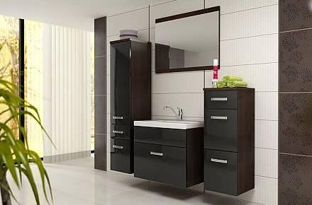 Koupelnový nábytek EMA-černá, sleva 34%. Cena: 5 961 Kč