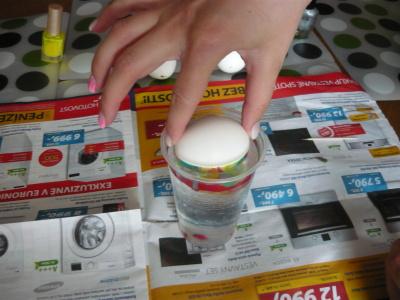 Vajíčko ponořte a ihned vytáhněte.