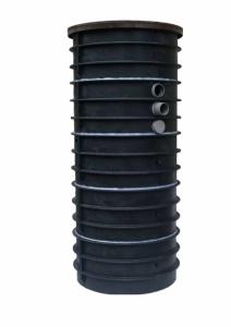 Typ A - samonosná nádrž vyrobená z plastů, která se osazuje do výkopu (na betonové desce nebo zhutněném podsypu) tak, aby víko bylo cca 10 cm nad terénem.
