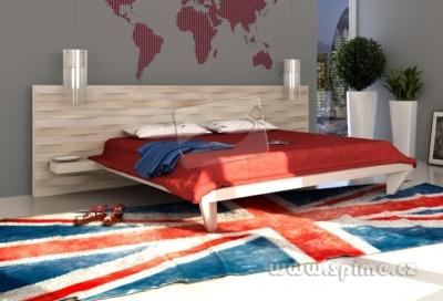 dřevěná postel z masivu CALABRIA dub jasan