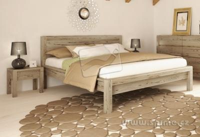 dřevěná postel z masivu STONE smrk
