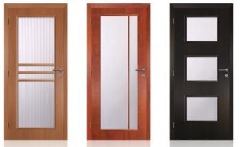 Interiérové dveře s větší plochou ze skla