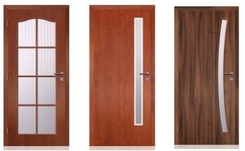 interiérové dveře zdobené sklem