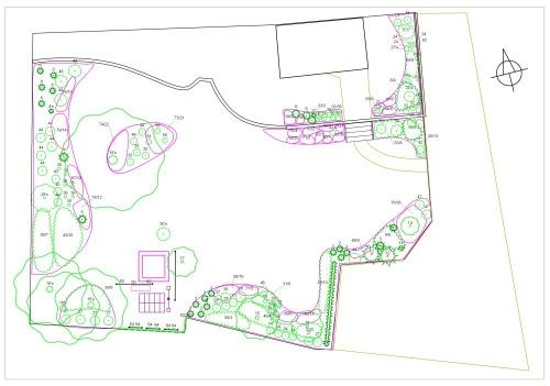 Návrh zahrady může vypadat třeba takto (projekt od Aleš Bula a Jaroslav Růžička - Zahrady Bula).