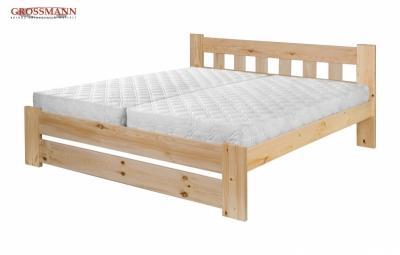 Masivní postel z borovice velikosti 160,180x200 lze pořídit již za cenu 5 599 Kč (model Bára z e-shopu grossmann-matrace.cz)