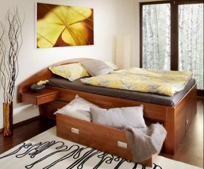 postel s úložným prostorem z buku, cena: 23 894 Kč